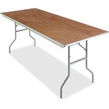 ICE 56230 Iceberg Natural Plywood Rectangular Folding Table ICE56230
