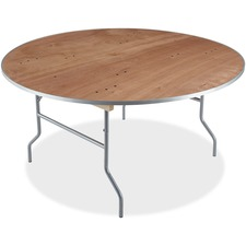 ICE 56260 Iceberg Natural Plywood Round Folding Table ICE56260