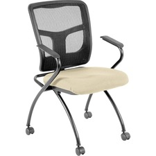 LLR84374007 - Lorell Mesh Back Nesting Chair with Armrests