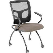 LLR84374008 - Lorell Mesh Back Nesting Chair with Armrests