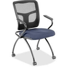 LLR84374010 - Lorell Mesh Back Nesting Chair with Armrests