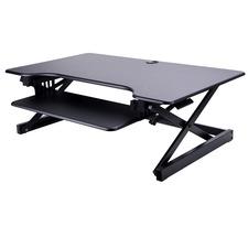 """Lorell Deluxe Adjustable Desk Riser - 16"""" (406.40 mm) Height x 37"""" (939.80 mm) Width x 24"""" (609.60 mm) Depth - Desktop - Black"""