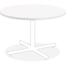 LLR99857 - Lorell Hospitality White Laminate Round Tabletop