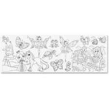 RTG 10228 Redi-Tag Self-adhes Fairy Girl Theme Coloring Roll RTG10228
