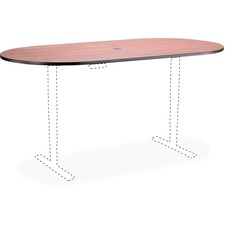 SAF 2503EHATCY Safco Electric Table Cherry Racetrack Tabletop SAF2503EHATCY