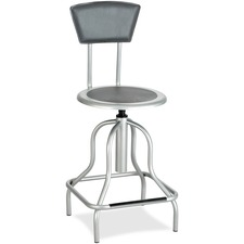 SAF 6664SL Safco Diesel Series High Base Stool w/Back SAF6664SL
