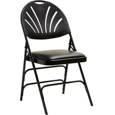 SML 516591050 Samsonite XL Fanback Steel and Vinyl Folding Chair SML516591050