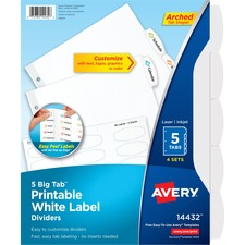AVE14432 - Avery&reg Big Tab White Label Tab Dividers