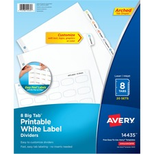 AVE14435 - Avery&reg Big Tab White Label Tab Dividers