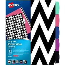 AVE24914 - Avery&reg Big Tab Reversible Fashion Dividers