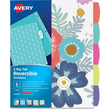 AVE24950 - Avery&reg Big Tab Reversible Fashion Dividers