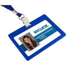 BAU 66113 Baumgartens SICURIX Rigid ID Badge Holder BAU66113