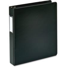 "Business Source 1.5"" D-Ring Binder - 1 1/2"" Binder Capacity - 375 Sheet Capacity - Slant D-Ring Fastener(s) - Internal Pocket(s) - Black - Lay Flat, Label Holder"