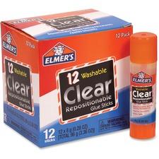 EPI E4064 Elmer's Clear Repositionable Glue Sticks EPIE4064