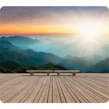 """Fellowes Recycled Mouse Pad - Mountain Sunrise - Mountain Sunrise - 8"""" (203.20 mm) x 9"""" (228.60 mm) x 60 mil (1.52 mm) Dimension - Multicolor - Rubber Base - Slip Resistant, Scratch Resistant, Skid Proof - 1 Pack"""