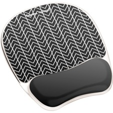 FEL 9549901 Fellowes Chevron Design Gel Mouse Pad FEL9549901
