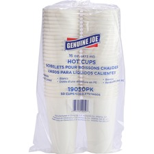 Genuine Joe Disposable Hot Cup - 473.18 mL - White - Coffee, Hot Drink