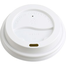 Genuine Joe Raised Siphole Hot Cup Lids - 50 / Pack - White