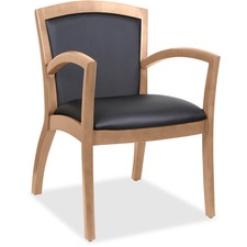 LLR 20022 Lorell Arched Arms Wood Guest Chair LLR20022