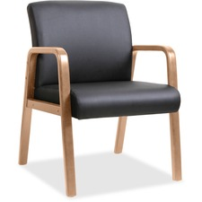 LLR 20026 Lorell Solid Wood Frame Guest Chair LLR20026