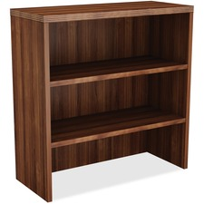 LLR 34357 Lorell Chateau Srs Walnut Laminate Stack-on Bkcase  LLR34357