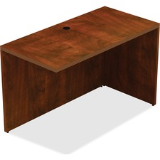 "Lorell Chateau Series Return - 1.5"" Top, 48"" x 24"" x 30"" - Reeded Edge - Finish: Cherry Laminate Top"