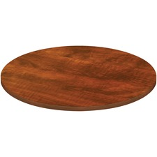 "Lorell Chateau Tabletop - 1.5""48"" Top - Reeded Edge - Finish: Cherry Laminate"