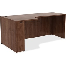 LLR 34393 Lorell Walnut Laminate Office Suite Desking LLR34393