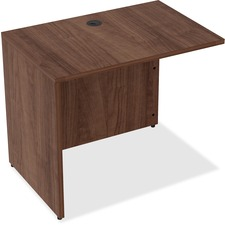 LLR 34400 Lorell Walnut Laminate Office Desking LLR34400