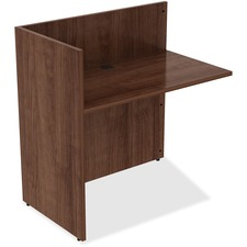 LLR 34404 Lorell Walnut Laminate Office Desking LLR34404