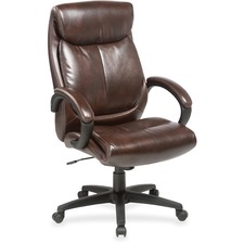 LLR 59498 Lorell Leather High-back Nylon Base Exec Chair LLR59498
