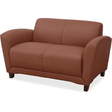 LLR 68947 Lorell Mahogany Finish Reception Loveseat LLR68947