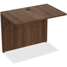 LLR 69539 Lorell Walnut Laminate Office Desking LLR69539