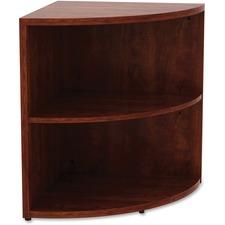 LLR69892 - Lorell Essentials Series Cherry Laminate Corner Bookcase