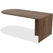 LLR 69958 Lorell Walnut Laminate Office Suite Desking LLR69958