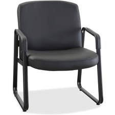 LLR84587 - Lorell Big and Tall Leather Guest Chair