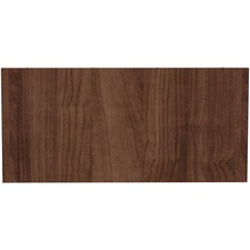 LLR 97611 Lorell Prominence Table Walnut Modesty Panel LLR97611