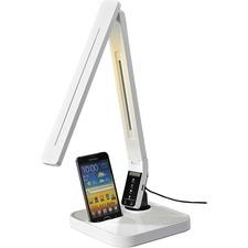 LLR 99770 Lorell Micro USB Charger LED Desk Lamp LLR99770