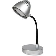 LLR 99777 Lorell Silver Shade LED Desk Lamp LLR99777