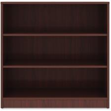 """Lorell Mahogany Laminate Bookcase - 36"""" Height x 36"""" Width x 12"""" Depth - Mahogany - Laminate - 1Each"""