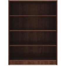 LLR 99786 Lorell Walnut Laminate Bookcase LLR99786