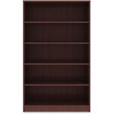 LLR 99787 Lorell Mahogany Laminate Bookcase LLR99787