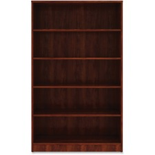 LLR 99788 Lorell Cherry Laminate Bookcase LLR99788