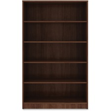 LLR 99789 Lorell Walnut Laminate Bookcase LLR99789