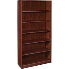 LLR99790 - Lorell Mahogany Laminate Bookcase