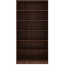 LLR 99792 Lorell Walnut Laminate Bookcase LLR99792