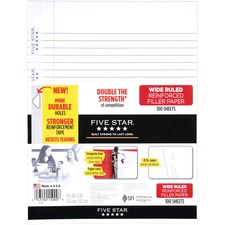 MEA 15000 Mead Five Star Reinforced Filler Paper MEA15000