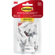 MMM 17067MPES 3M Command Damage-Free Small Wire Hooks Mega Pack MMM17067MPES