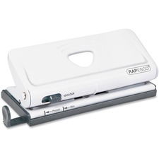 Rapesco Adjustable 6-Hole Organizer/Diary Punch (White)