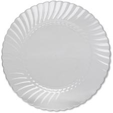 WNA RSCW10121 WNA Comet Classicware Hvywt Plastic Clear Plates WNARSCW10121
